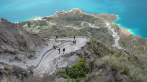 Ecuador lake Quilotoa hike