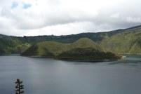 Lake Cuicocha, near Cotacachi in Ecuador Andean Highlands