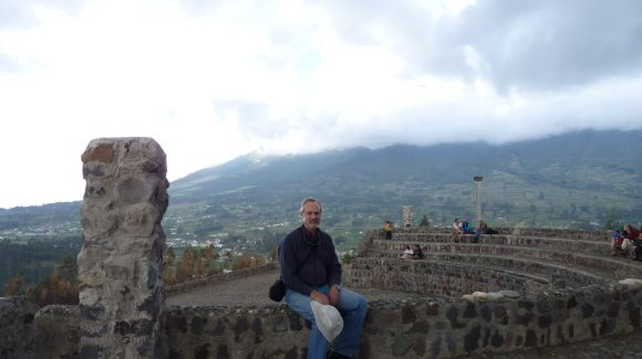 View from Parque Condor Bird rehab facility in Otavalo.