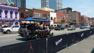 Nashville Pedal-party bike on Broadway