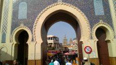 morocco marinid architecture gateway jewish quarter store stalls