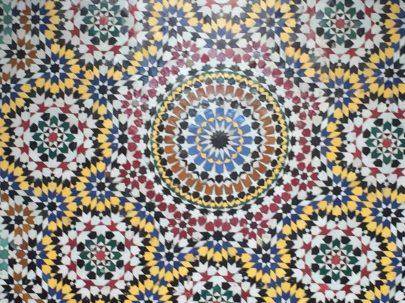 Tile facade of Morocco building