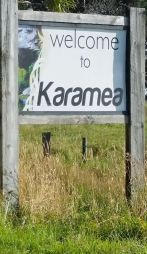 Sign Welcome to Karamea New Zealand
