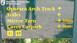 From Karamea New Zealand - Track sign for Oparara Arch