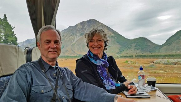 New Zealand's Southern Alps from the TranzAlpine Scenic Railway