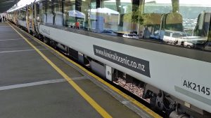 KiwiRail's TranzAlpine Railway empty car