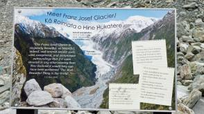 Franz Josef Glacier sign, with specs and other info