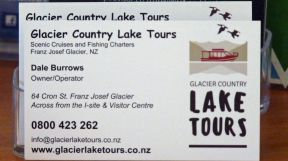 Business card for Glacier Country Lake Tours