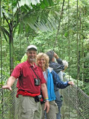 Rain forest skywalk in Costa Rica