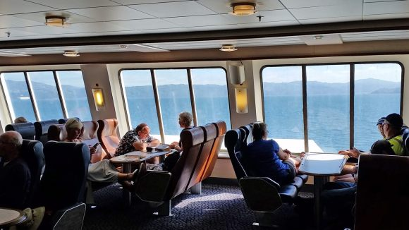 Picton Wellington ferry passenger area