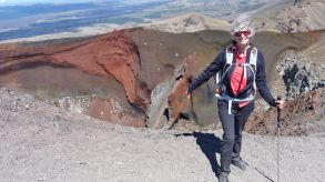 Tongariro Alpine Crossing - looking into the Red Crater