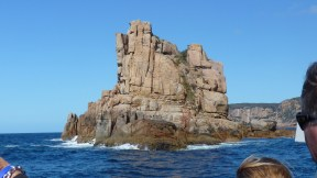 Impressive granite island in Freycinet, with Wineglass Bay Cruises
