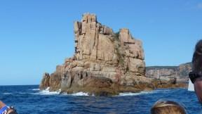 Impressive granite island in Freycinet, with Wineglass Bay Cruises