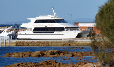 Wineglass Bay Cruises boat Schouten Passage II in port, preparing for another cruise
