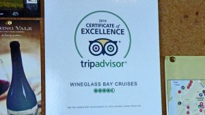Wineglass Bay Cruises Certificate of Excellence by Tripadvisor