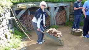 Hobbiton - The Shire wood shed wheel barrow