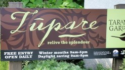 Tupare garden in New Plymouth - entrance sign