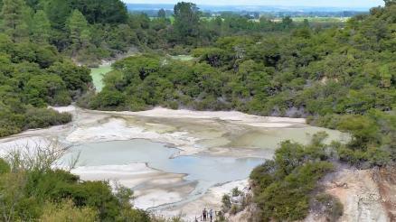 Waiotapu Thermal Park colorful thermal pools