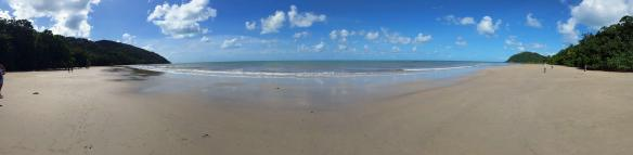 Wide view of Cape Tribulation beach