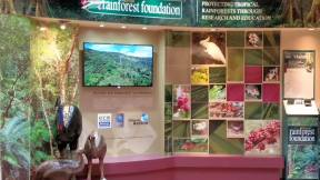 Rainforest Foundation display at the Skyrail's Smithfield terminal