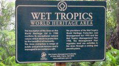 Wet Tropics World Heritage Area sign