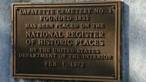 Lafayette Cemetery - National Register plaque