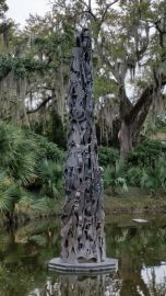 Cello obelisk in New Orleans Sculpture Garden