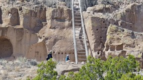 Puye Cliffs was home to 1,500 Pueblo Indians who lived, farmed and hunted game there from the 900s to 1580 A.D.
