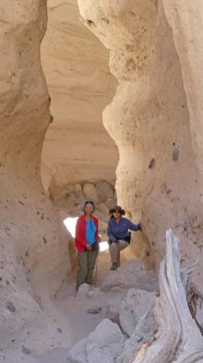 Hiking thru the slot canyon at Kasha-Katuwe Tent Rocks National Monument