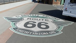 Route 66 Street mural a Flagstaff Arizona Attractions