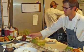 Chef Dave at Root Public House plates up dinner