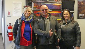 5 Star Helicopter Tours - Wendy and two pilots