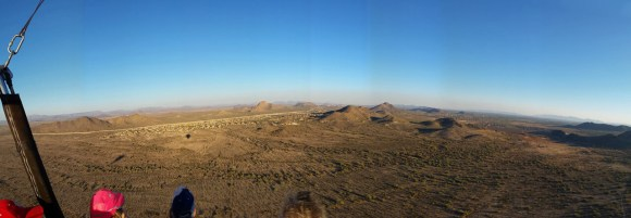 Hot Air Expeditions of Phoenix - Panoramic view from aloft