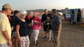 Hot Air Expeditions of Phoenix-A first flight for all 18 of us, celebrated by the traditional champagne toast