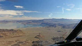 Lake Mead Grand Canyon West helicopter tour - approaching the lake