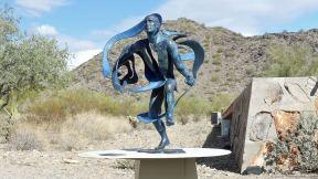 Phoenix area - Taliesin West - Heloise Crista sculpture Alchemy