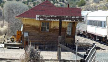 Abandoned town of Perkinsville, at the turn-around point of our train ride thru the Verde Canyon.