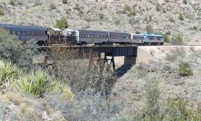 Verde Canyon Railroad crossing trestle