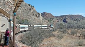 Verde Canyon Railroad starts its return from Perkinsville