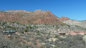 Scenery and Sights from Verde Canyon Railroad. Beautiful rock faces as seen along our route.