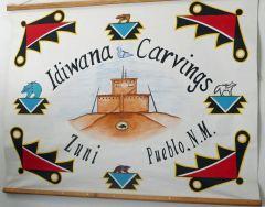 Zuni fetish Idiwana stone carvings