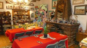 Zuni Halona Inn - kachina collection, Zuni arts and crafts