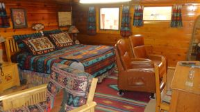 Zuni Halona Inn - typical room, with extensive Native American decorations and accents