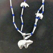 Zuni jewelry Carlton Jamon silver bear