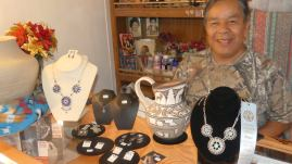 Zuni jewelry and pottery by Carlos Laate