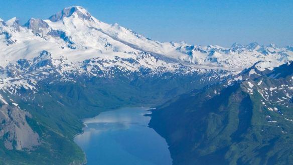 Chinitina Bay approach to Lake Clark National Park in Alaska