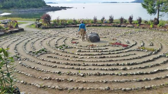 Merciful Love labyrinth at the Shrine of Saint Therese, near Juneau Alaska