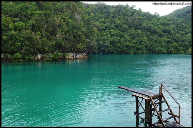 Diving board at Sugba Lagoon