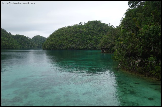 The emerald waters of Sugba Lagoon