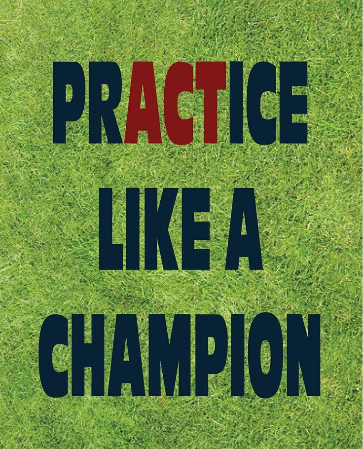 practice like a champion baseball